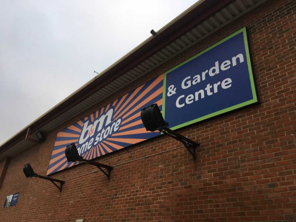 B&M Stores & Garden Centre Sign - Didcot