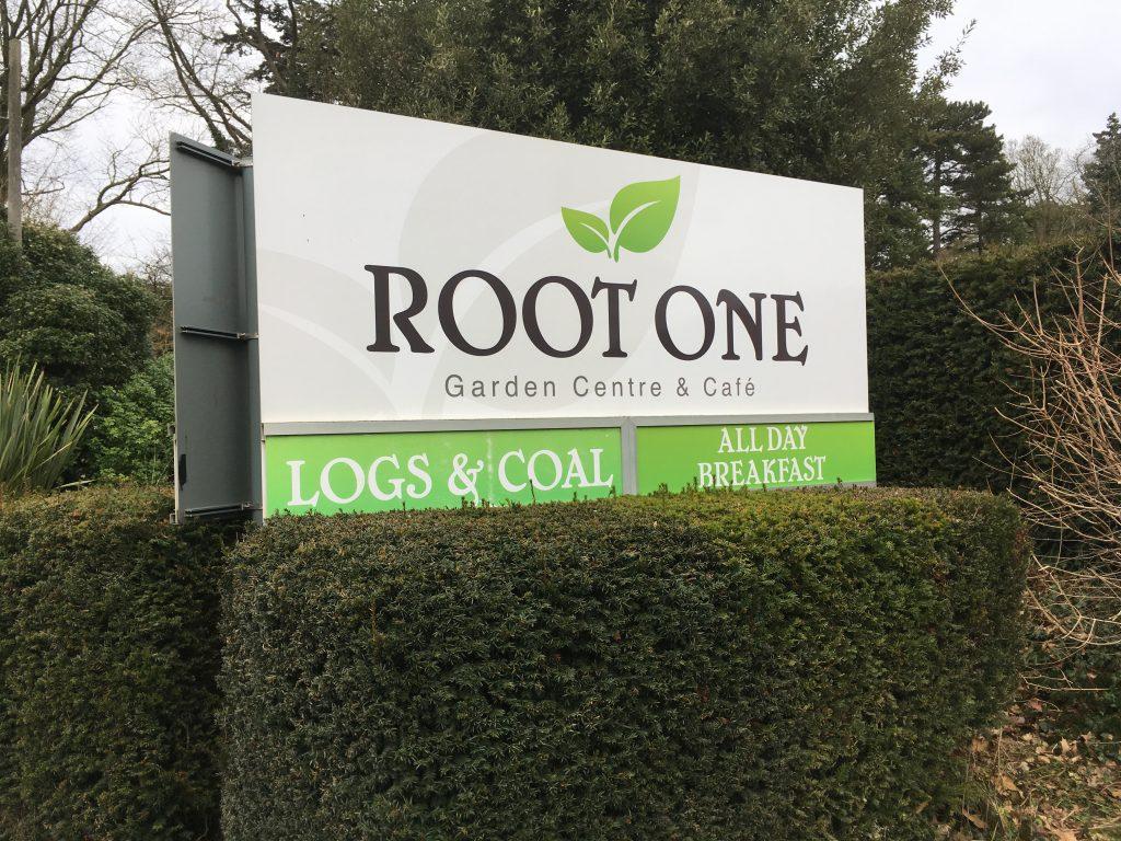 Root One Garden Centre Sign - Brightwell-cum-Sotwell