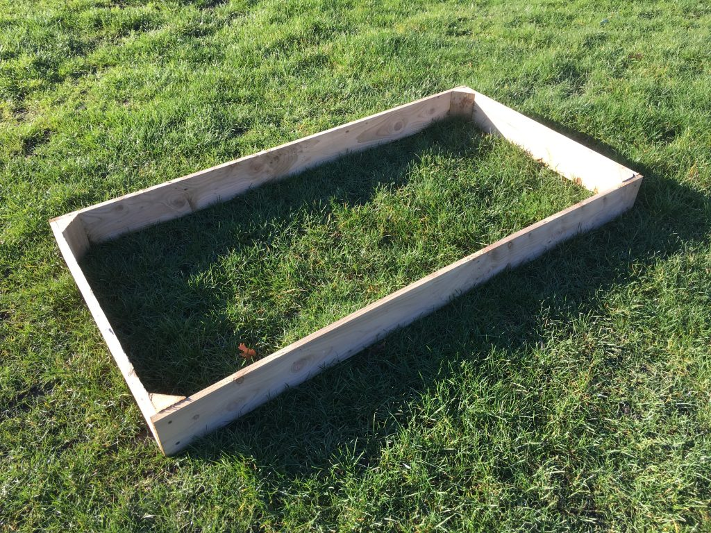 Raised Bed 180cm x 90cm x 15cm (£29.50)