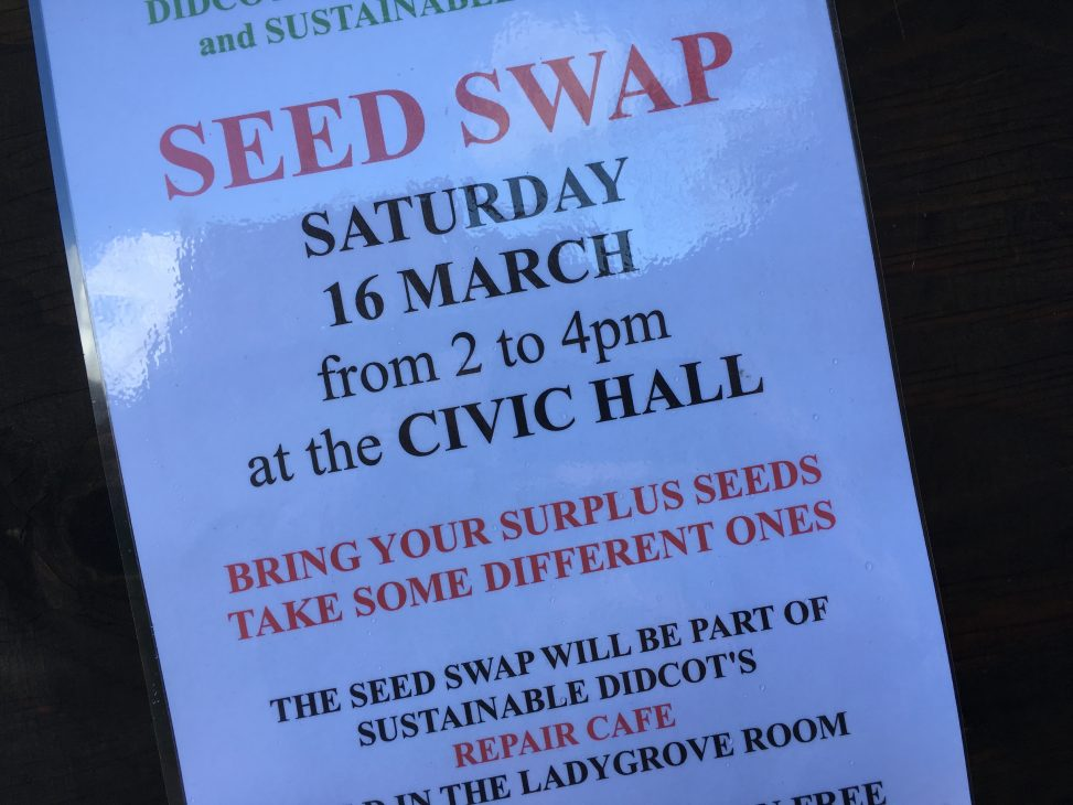 Seed Swap - Saturday 16 March