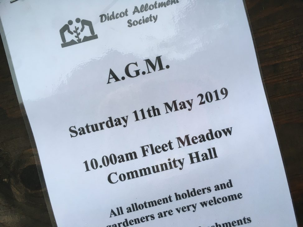 Didcot Allotment Society (DAS) AGM Notice - May 2019