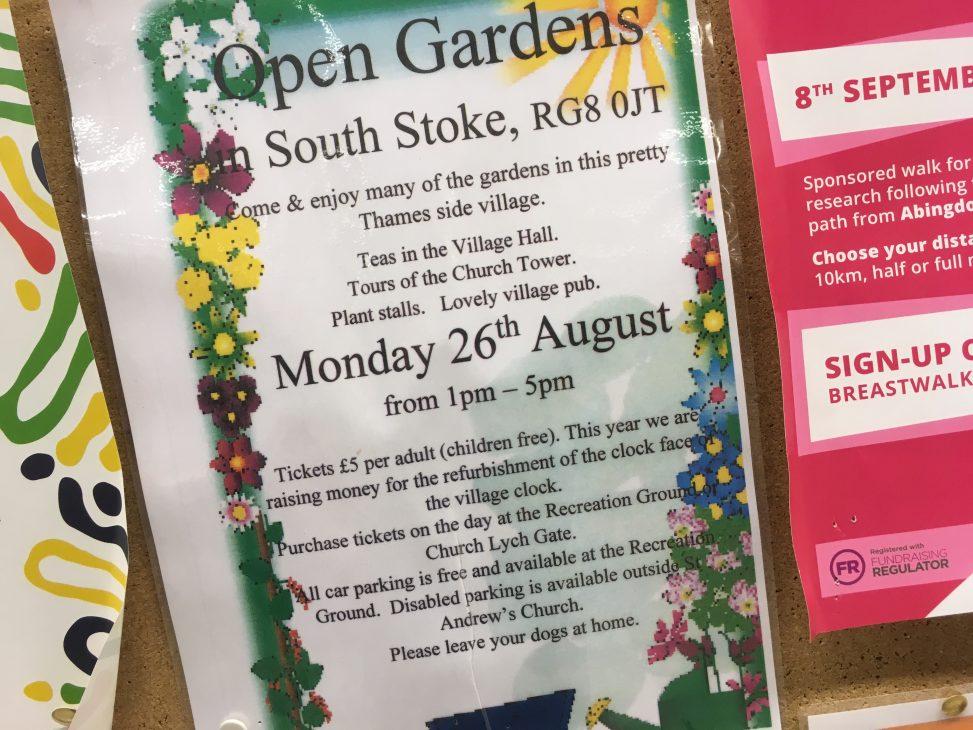 South Stoke Open Gardens 2019