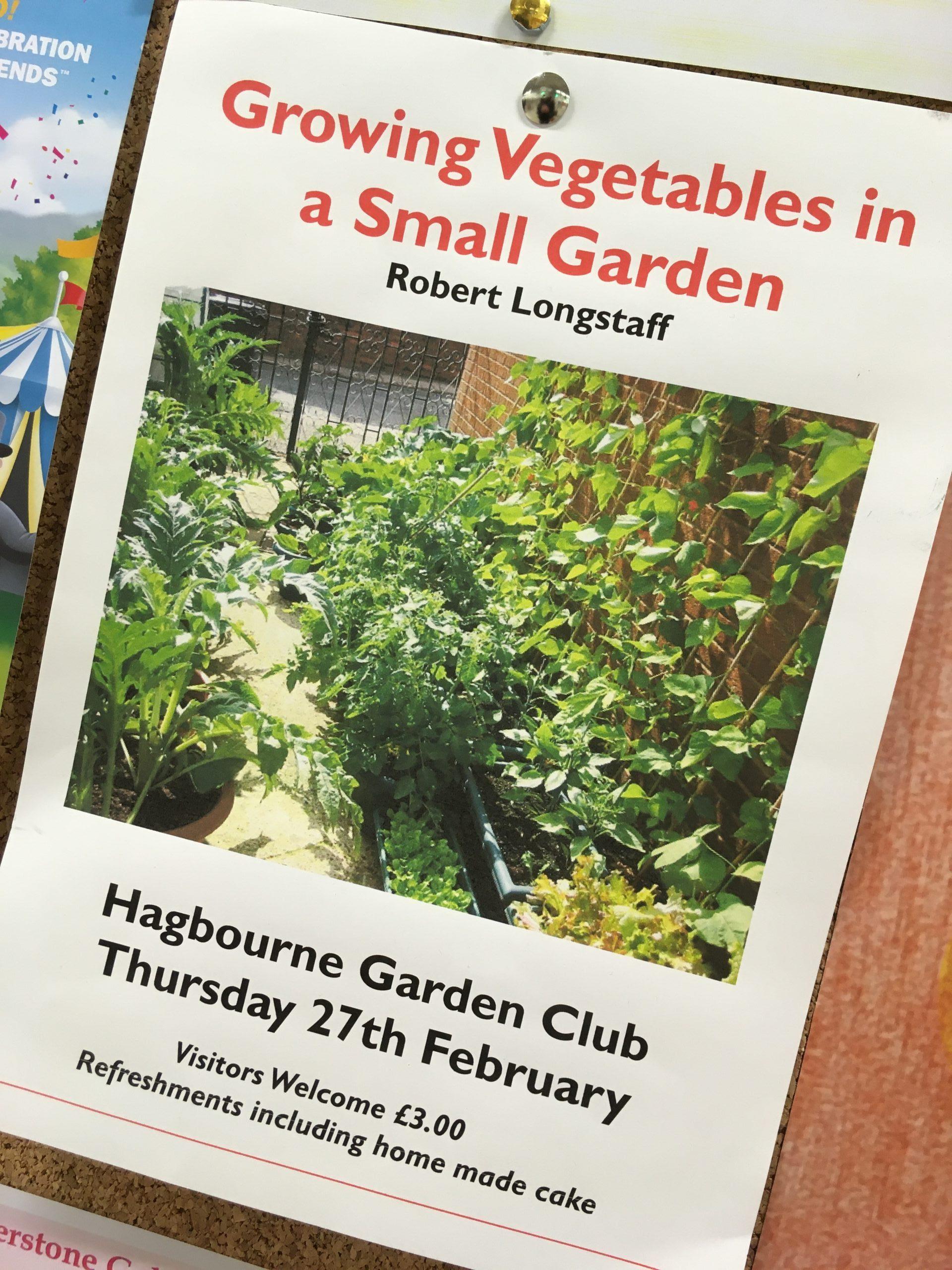 Hagbourne Garden Club - Growing Vegetables in a Small Garden