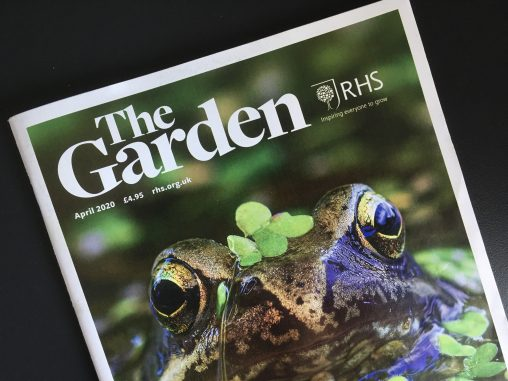 RHS The Garden Magazine Cover - April 2020