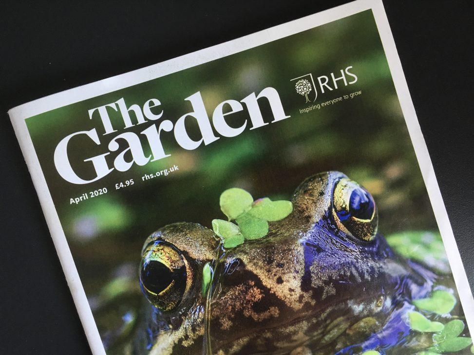 RHS The Garden Magazine Cover - April 2020