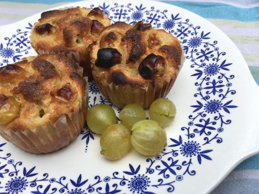 Gooseberry and Elderflower Muffins