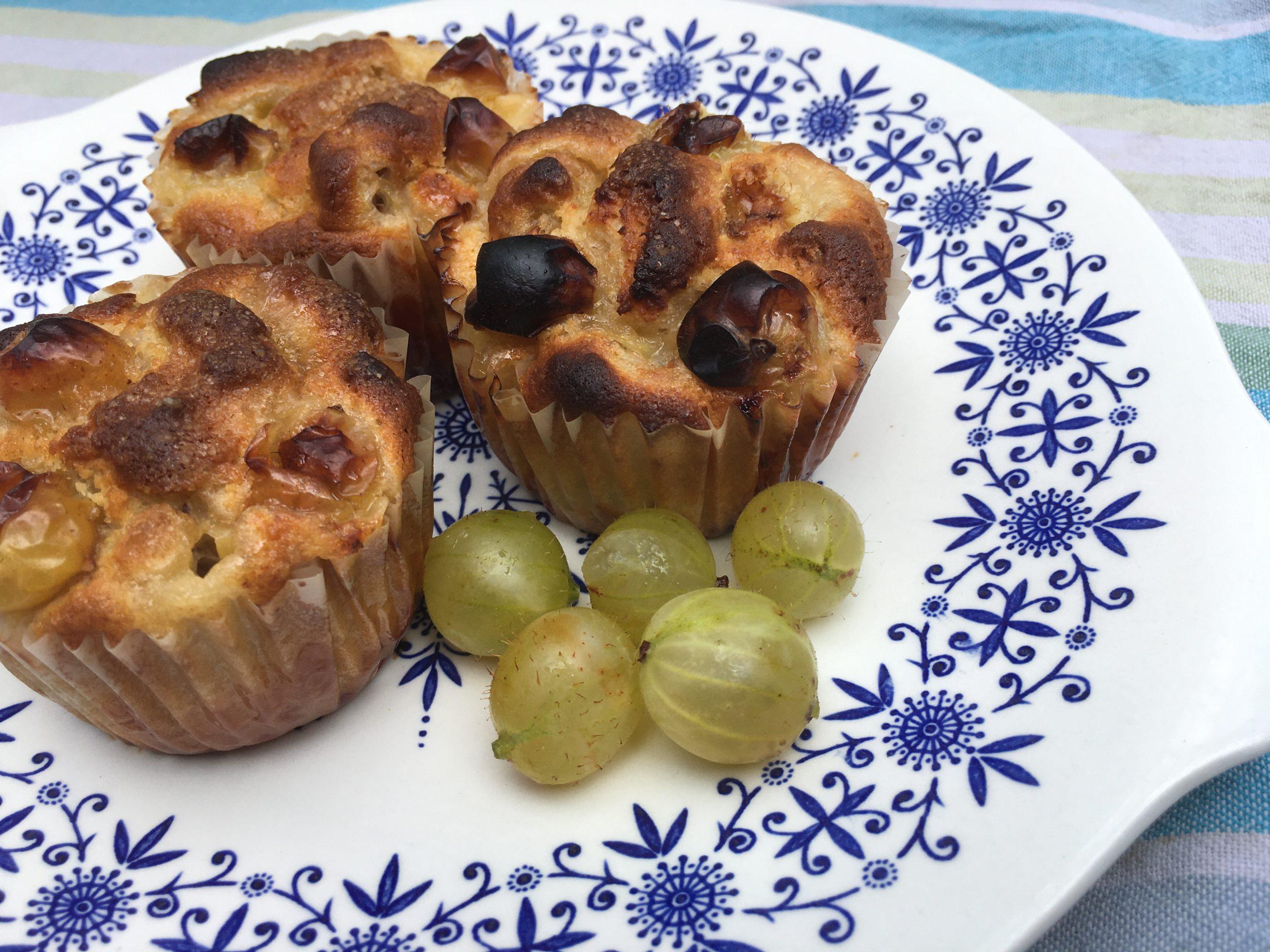 Gooseberry and Elderflower Muffins